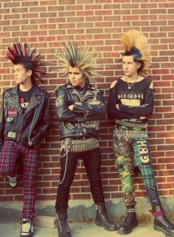 Men's 70's punk fashion
