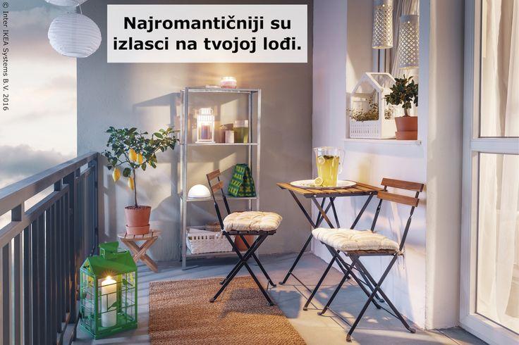 Romantičnu atmosferu lako možeš postići i na svojoj lođi, a pomoći će TÄRNÖ komplet i osvježavajuće piće od tvojih limuna. www.IKEA.hr/TARNO_komplet