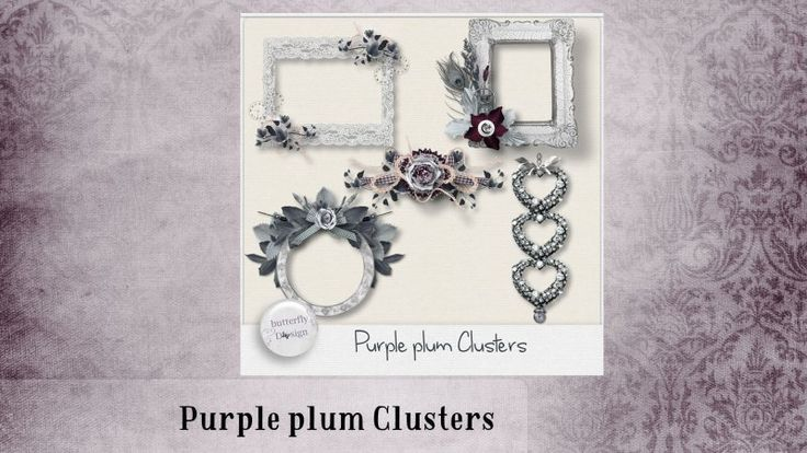 Purple plum [Clusters] by butterflyDsign
