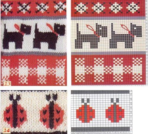 15 σχέδια ζακάρ για παιδικά πλεκτά με κουκουβάγιες , κουνελάκια ,αυτοκίνητο, μανιτάρια , παπάκια , γάτες , σκύλους , αρκουδάκια, τριαντ...