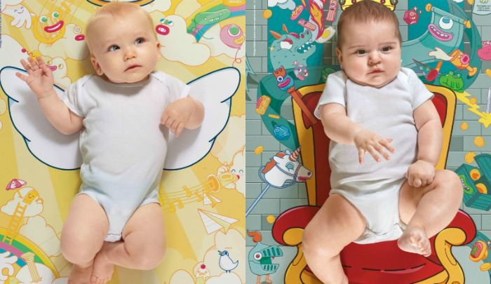 Pósters que se convierten en coloridos cambiadores para bebé