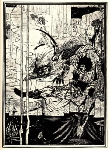 How King Arthur Saw the Questing Beast - Aubrey Beardsley