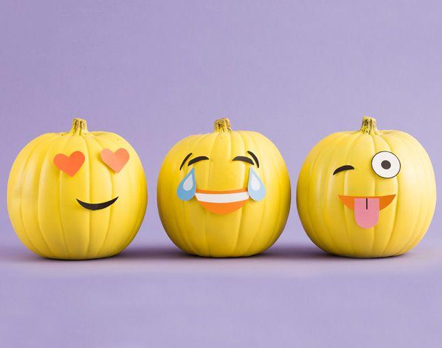 Make DIY Emoji Pumpkins With Our Free Printables!