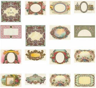 Adorable image inside free printable vintage labels