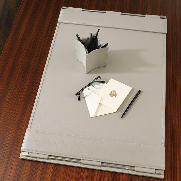global views flap desk blotter in grey - Desk Blotter