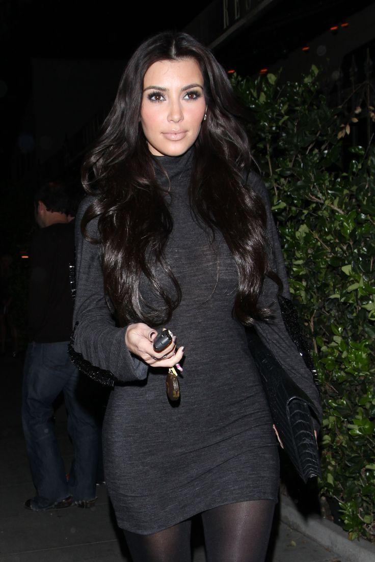 Dress black kim kardashian - Sweater Dress Kim Kardashian