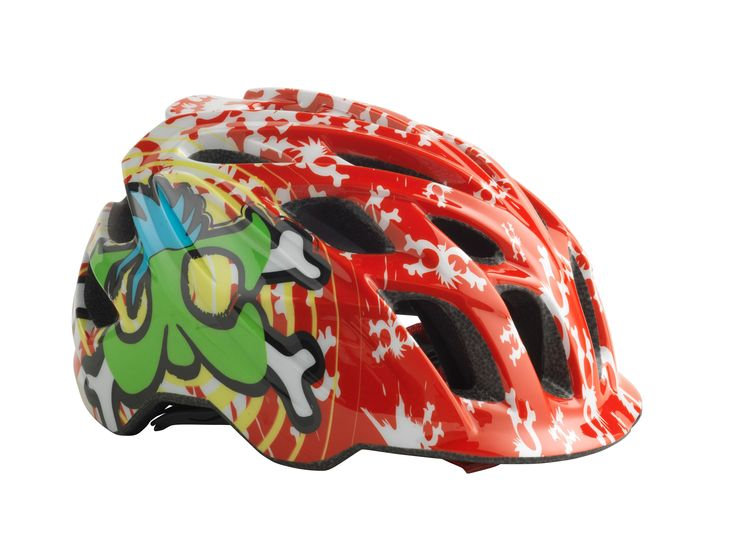 Kali Protectives CHAKRA Child Helmet Spiral Red/Green #kaliprotectives #kalipro #kali #helmet #chakrachild #chakra #protectivegear #bike #bicycles #mowhawks #crossbone #blue #green #spiral #childhelmet