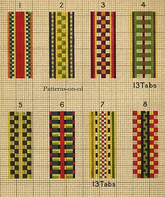 Patterns for tablet weaving