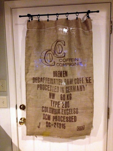 Burlap Curtains For Sale | Burlap Sack stool from A Diamond in the Stuff