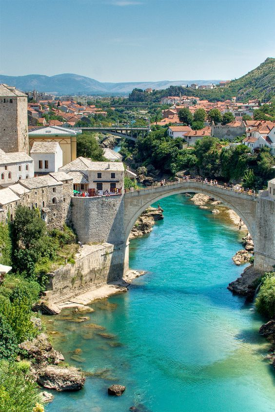 Bosnia & Herzegovina I WANT TO GO TO THIS BRIDGE! People jump off