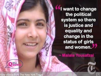 the life of inspiration of malala yousafzai 35 inspirational malala yousafzai quotes on success malala yousafzai is a pakistani activist for female education and the youngest nobel prize laureate.