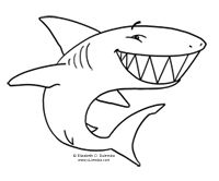 coloring pages shark boy - photo#28