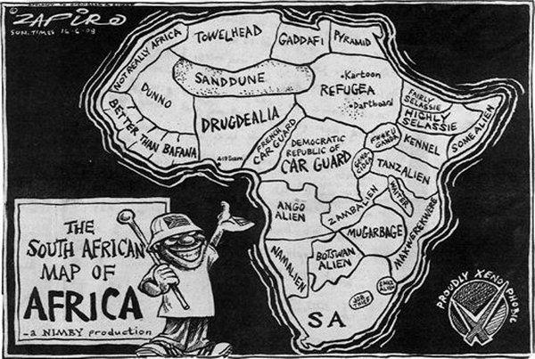 Lors de la présentation des terminales ESOPE, une carte humoristique de l'Afrique mais également révélatrice d'un grand nombre de stéréotypes nous avait été présentée. Nous avions alors trouvé qu'il s'agissait d'un moyen simple et ludique de présenter la vision des autres pays, notamment des États-Unis, à l'égard du continent africain. C'est donc toujours dans cette optique que nous vous proposons de découvrir le site suivant issu d'une collaboration entre le Nouvel observateur et rue 89.