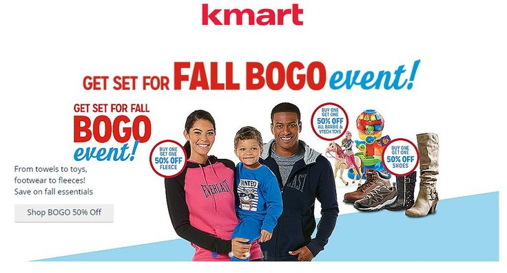 Kmart buyone, getone 50% discount on women's clothing, shoes, jewelry with Kmart Coupon Code. For more Kmart Discount Codes & Kmart Deals visit: http://www.couponcutcode.com/stores/kmart/
