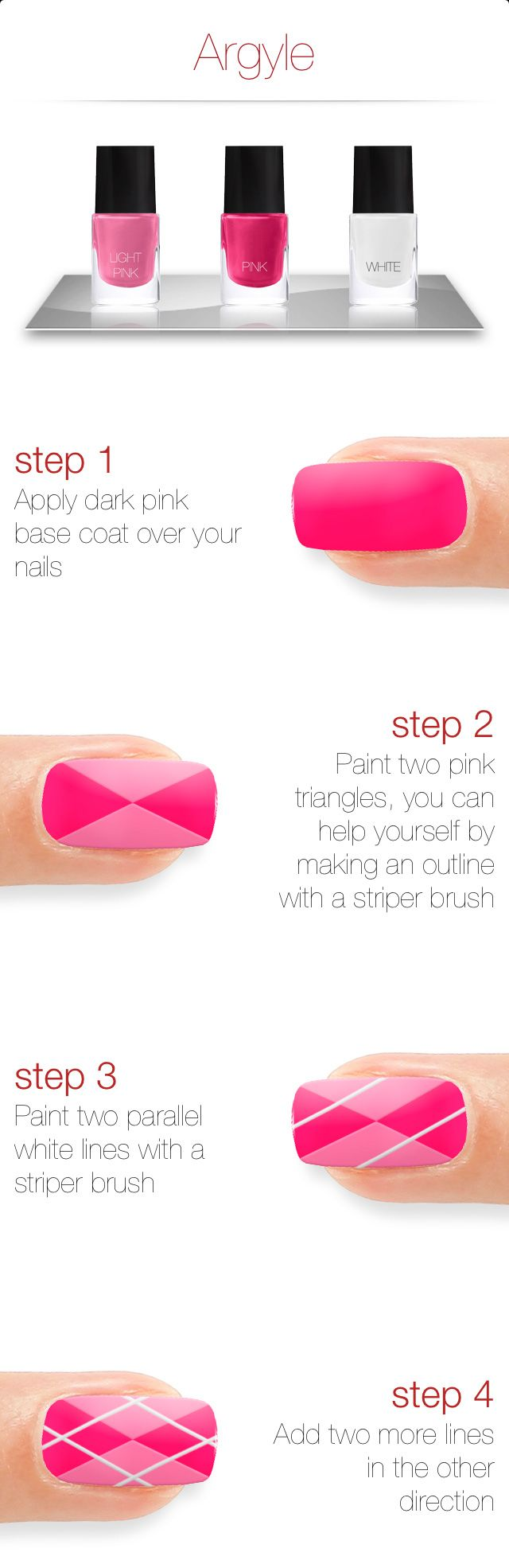 Argyle Nail Art Check out Dieting Digest