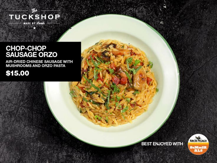 Chop-Chop Sausage Orzo  Air-Dried Chinese Sausage with Mushrooms & Orzo Pasta