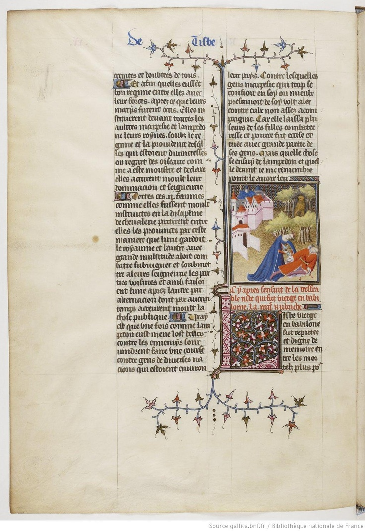 De Claris mulieribus, fol. 20v.