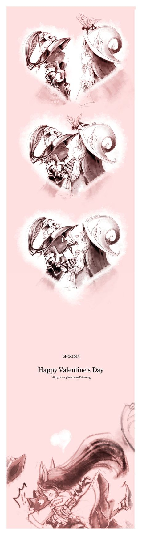 Valentines Day with Lulu and Veigar. I ship it. :D