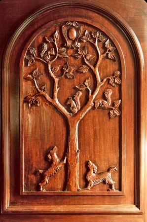 Erik Wyckoff Hand Carved Door.  It leads to Narnia.