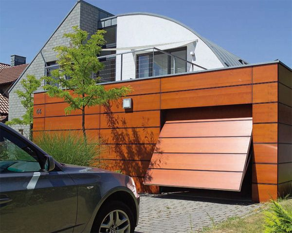 Truly magnificent garage door in a contemporary style