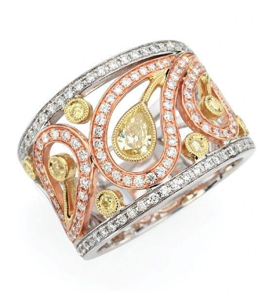 prettyBling, Right Hands Rings, Yellow Rose, Anniversaries Rings, Diamonds Rings, Gold Rings, Jewelry, White Gold, Rose Gold