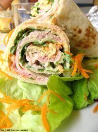 Wraps au jambon salade et carotte : la recette facile