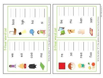 FINAL CONSONANT DELETION INTERACTIVE PHONOLOGY FLIPBOOK - TeachersPayTeachers.com