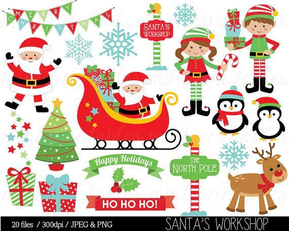 Imágenes Prediseñadas de Navidad Santa Claus Clip Art Elf