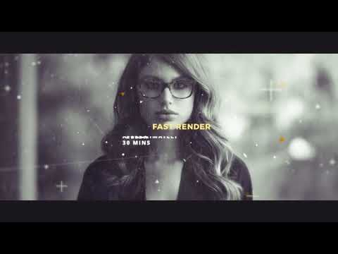 After Effects intro template | Digital Parallax Slideshow I Opener +
