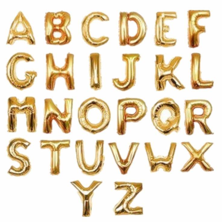 "Metallic gold letter balloons My Sky Metallic Gold Letter A Balloon 40"" Birthday…"