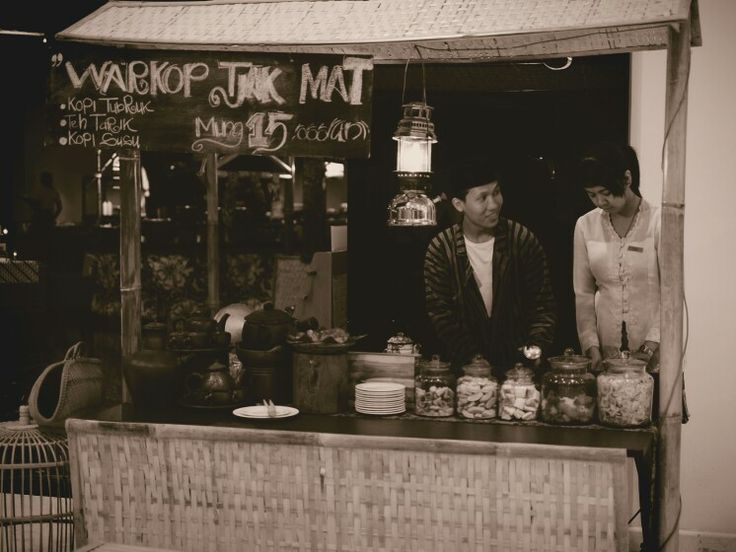 Warkop Tjak Mat ( Mr. Mat's coffee shop) in bamboo