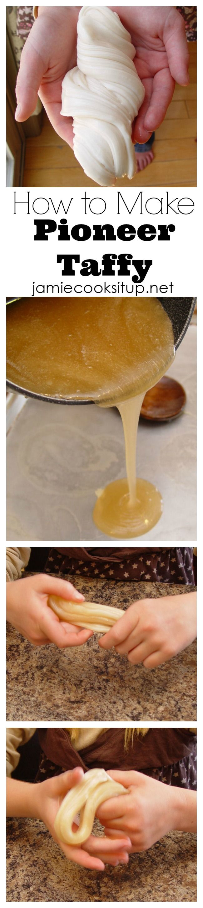 How to make pioneer taffy from Jamie cooks It Up!