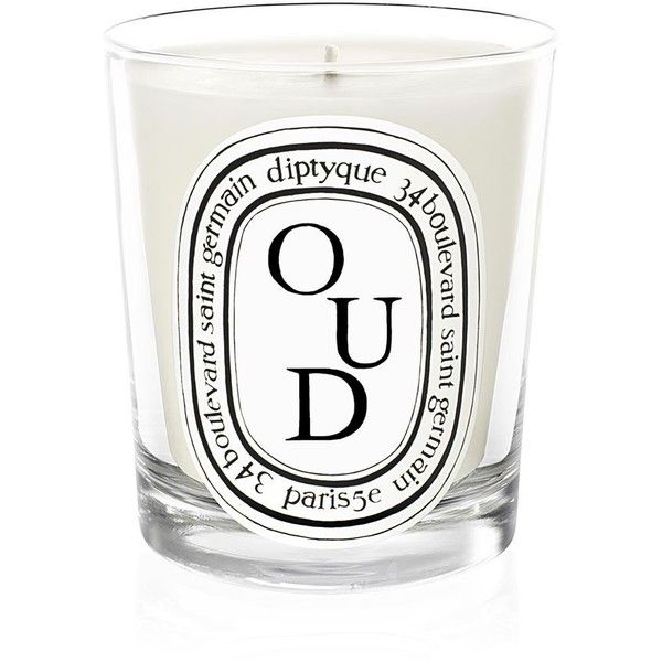 Diptyque Oud Scented Candle found on Polyvore featuring home, home decor, candles & candleholders, diptyque, diptyque candles, asian home decor, fragrance candles and oriental home decor
