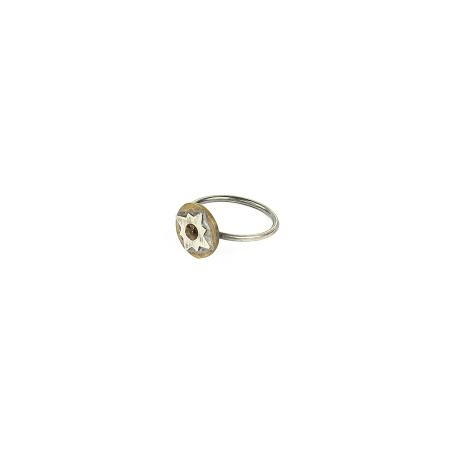 Muchi Galoosh Moroccan Tile Ring – Silver from Ornamental Morocco