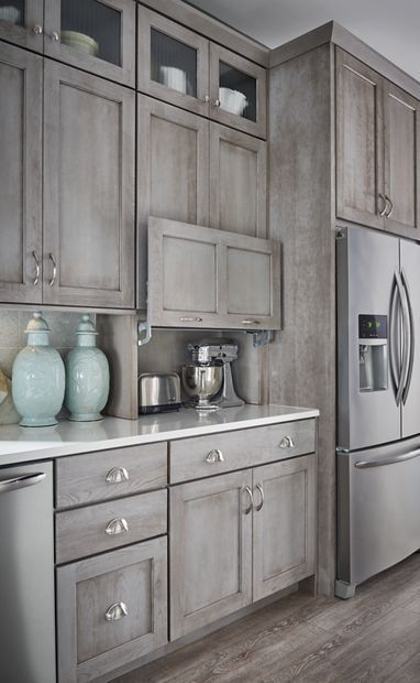 Kitchen cabinets. Boardwalk by Schuler.