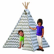 Discovery Kids Canvas Tee-Pee - Gray Chevron