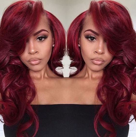 Best 25 colored hair extensions ideas on pinterest hair wine red with bright red highlights synthetic lace front wig body wave glueless heat resistant fiber glueless lace wig pmusecretfo Gallery