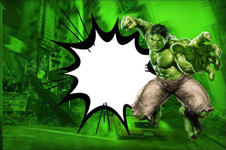 Hulk: Invitaciones para Imprimir Gratis.