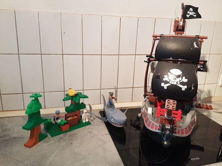 LEGO Duplo Großes Piratenschiff Herrscher der Meere (7880) Hai Angriff und Insel | eBay