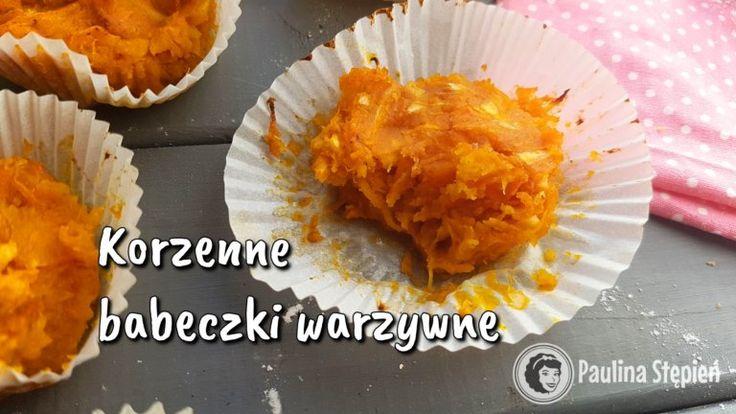 Korzenne babeczki dyniowo-marchewkowe (warzywne, bez mąki)