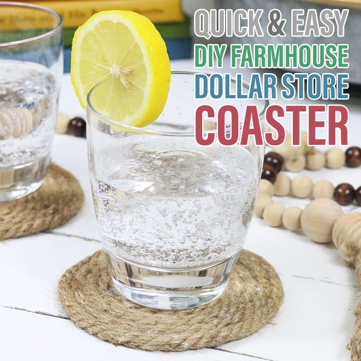 Quick and Easy DIY Farmhouse Dollar Store Coasters
