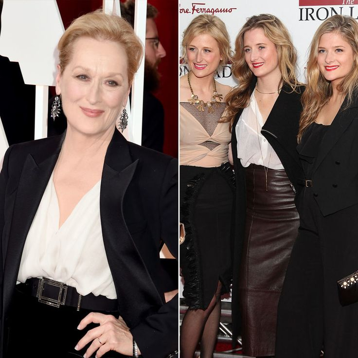 Meryl Streep and Mamie, Grace, and Louisa Gummer