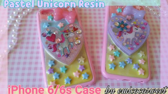 SALE 50%Unicorn Resin Phone caseDecoden Phone by emicocosweet