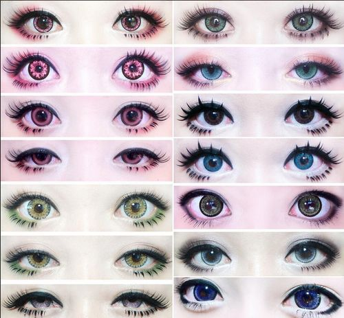 Different circle lenses and makeup