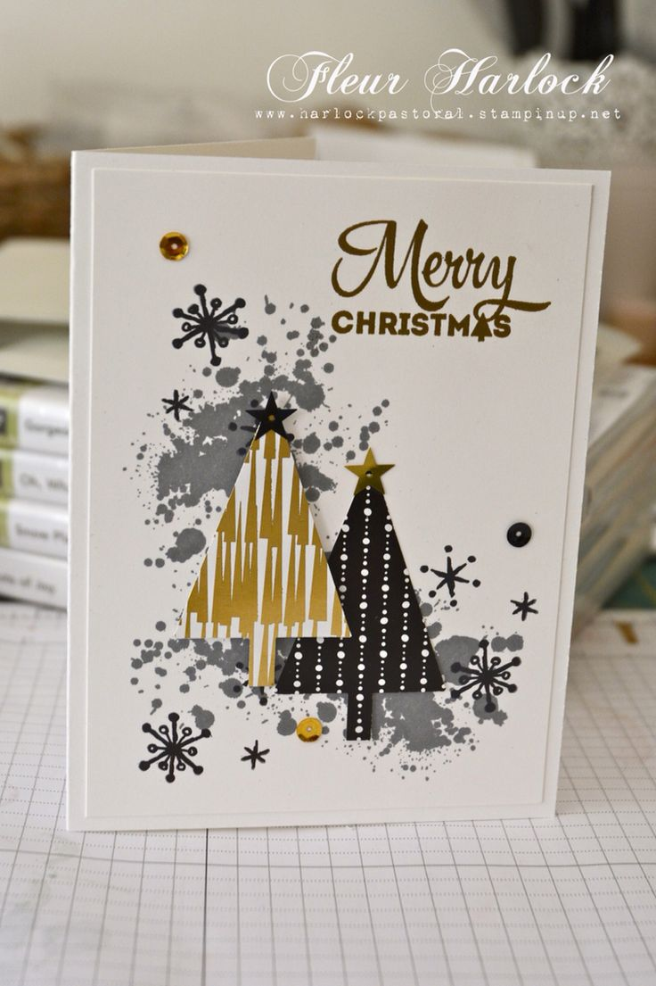 Stampin' Up! 'Gorgeous Grunge' stamp set, 'Snow Place' stamp set, 'Lots of Joy' stamp set, 'Tree' punch, 'Metallics' sequin assortment, 'Winter Wonderland' Speciality DSP