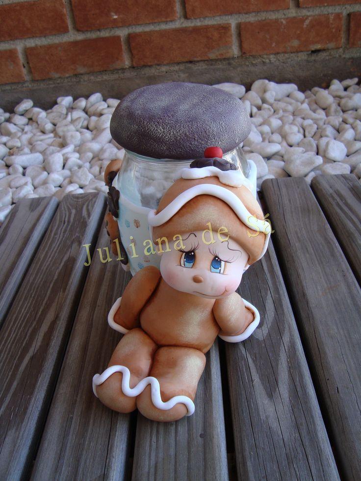 Pote biscuit com pinntura- Ateliê Juliana de Sá e-mail: julianah.sa@hotmail.com