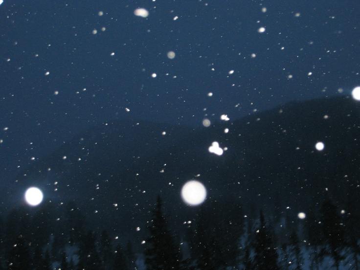nightime coming from vail