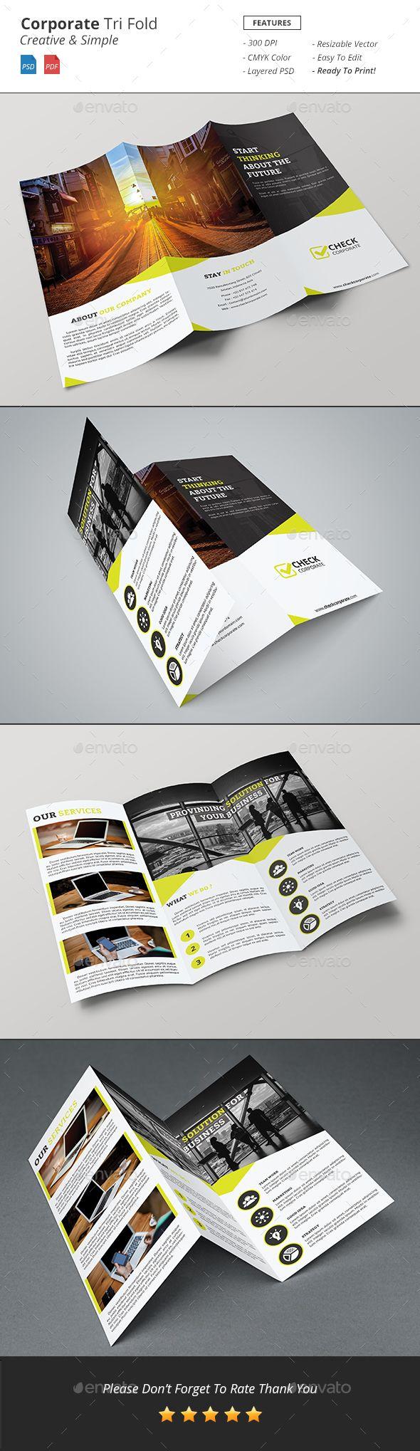 Corporate Tri-Fold Brochure Template PSD. Download here: http://graphicriver.net/item/corporate-trifold-brochure/16684764?ref=ksioks