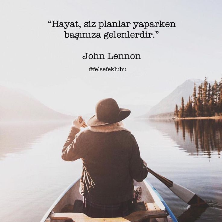 Hayat, siz planlar yaparken başınıza gelenlerdir. - John Lennon #sözler…