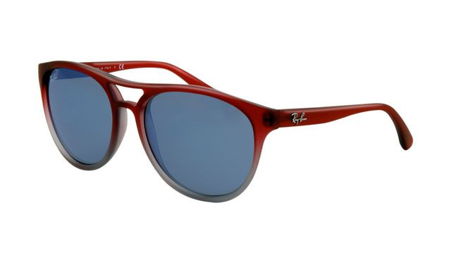 $19.88! #Ray #Ban #Sunglasses Ray Ban RB4170 Sunglasses SF Rosso Grigio Transparent Frame Blue